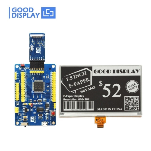 7.5 inch Large ePaper display with USB port Programmable Demo Kit