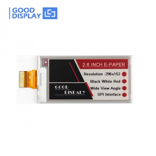 2.6 inch Three color red E-paper display e-ink screen module manufacturer GDEW026Z39