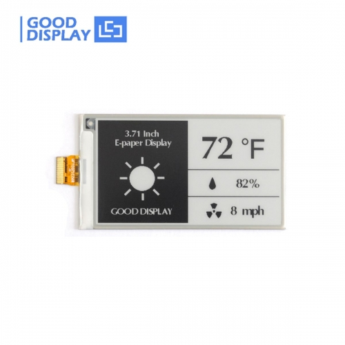 3.71 inch e-paper display black and white e-ink screen module GDEW0371W7