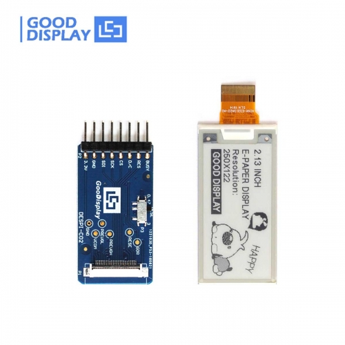 2.13 inch e-paper display partial refresh small-size e-ink screen module GDEH0213B73 with connection board