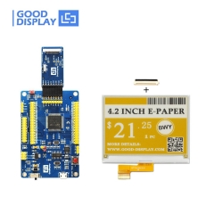 4.2 inch color EPD display yellow three-color e-ink screen module with demo kit