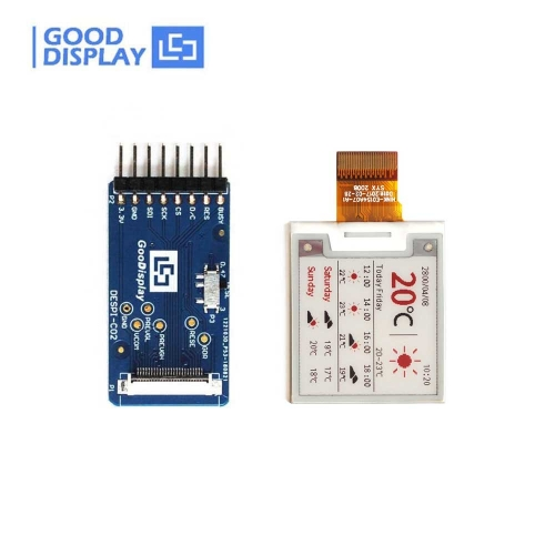 1.54 inch colorful red e-paper display panel with connect adapter board, GDEH0154Z90+DESPI-C02