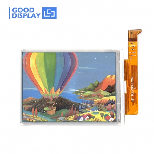 6.0 inch DES full color e-paper display panel parallel interface, wide working temperature, GDEW060C01