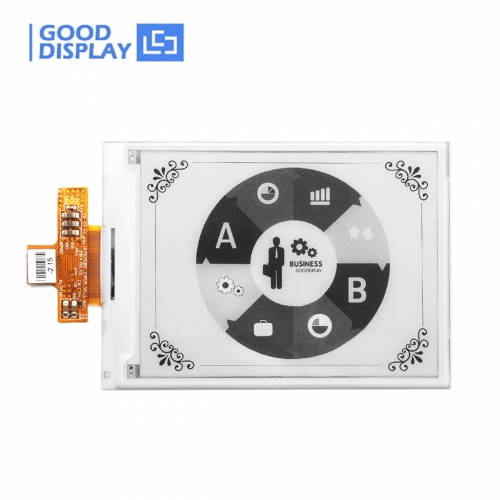 4.3 inch e-paper display parallel interface, with glossy glass cover, GDE043A3